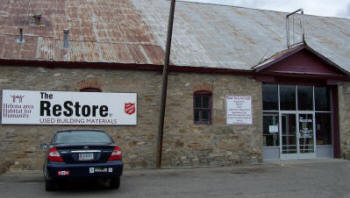 Picture of the front of the Restore building
